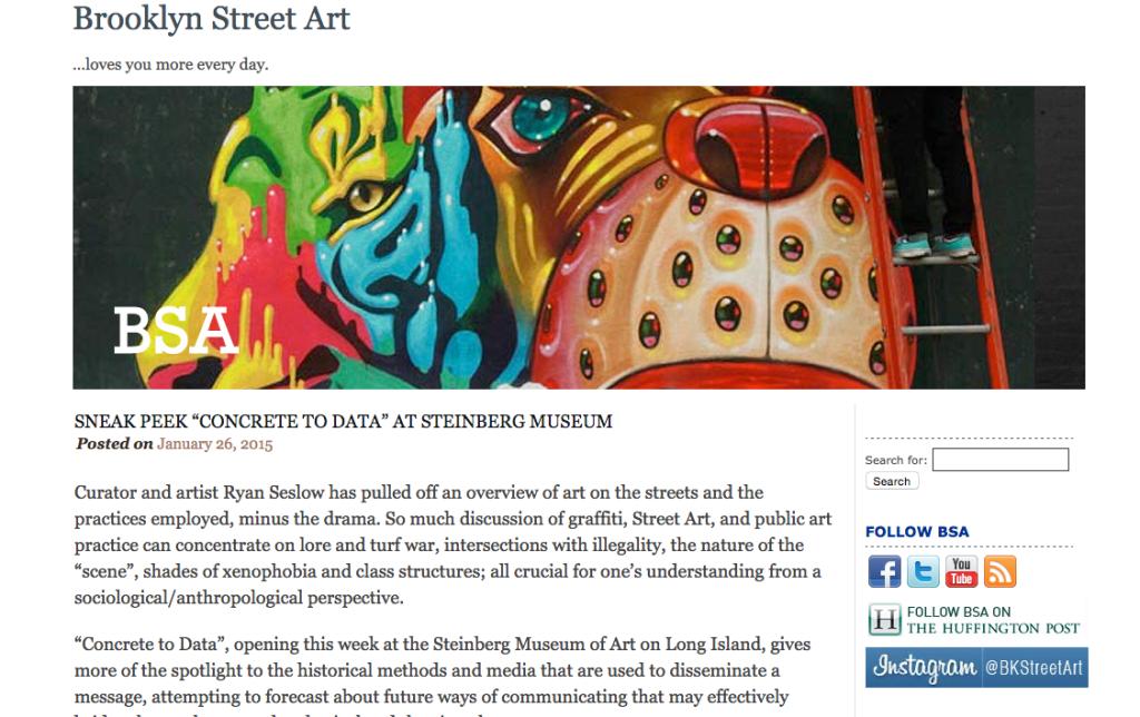 Sneak Peek  Concrete to Data  at Steinberg Museum   Brooklyn Street Art copy