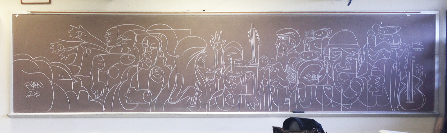 Chalk Board Hits #Drawing Immediacy