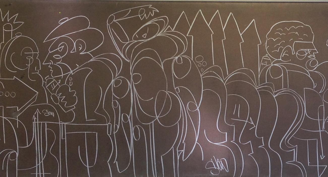 Chalkboard Hits Continue, #Drawing #Graffiti
