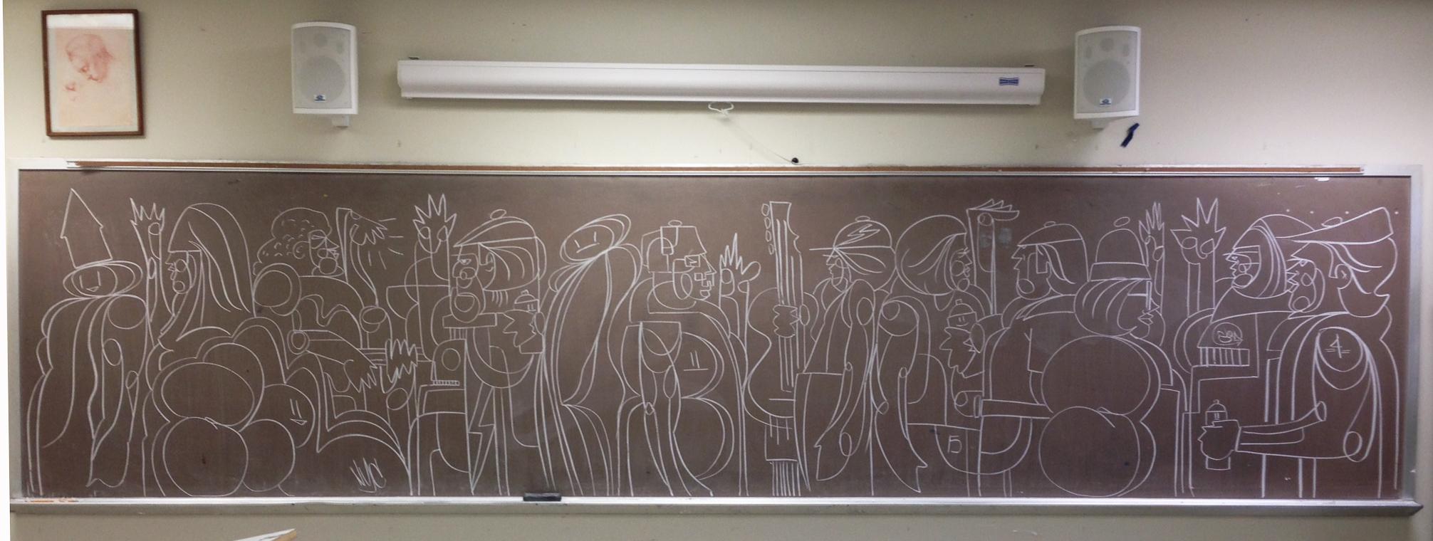 The Wednesday Hits #chalkboard #graffiti
