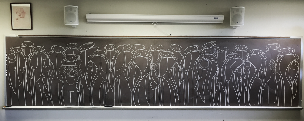 Fillin' Chalkboards #drawing #lines