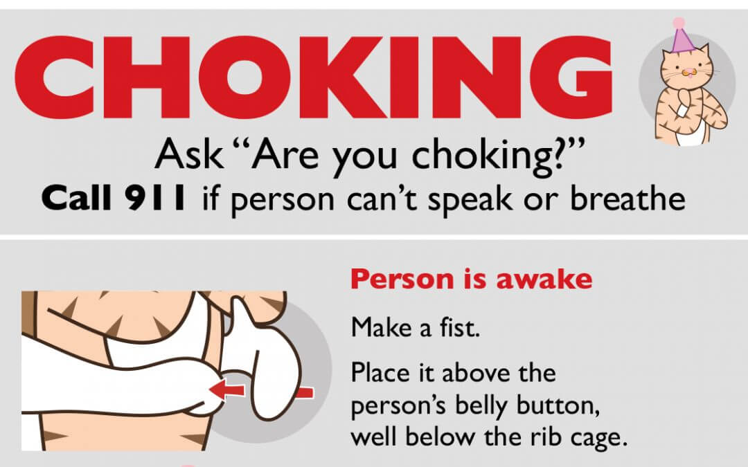 A Choking Safety Poster (with Mascots) #design
