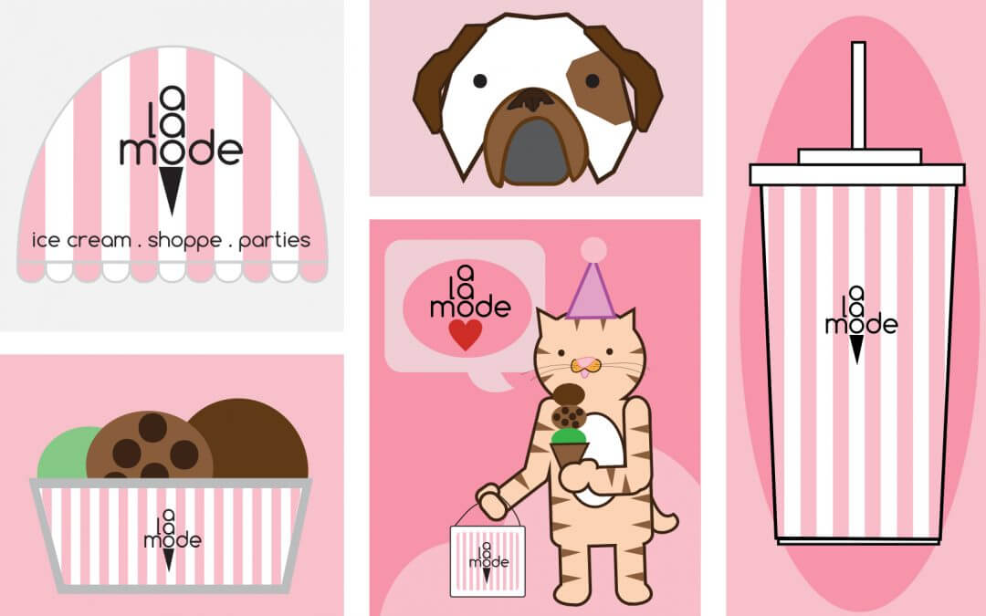 Promotional Vector Graphics for A La Mode Shoppe NYC