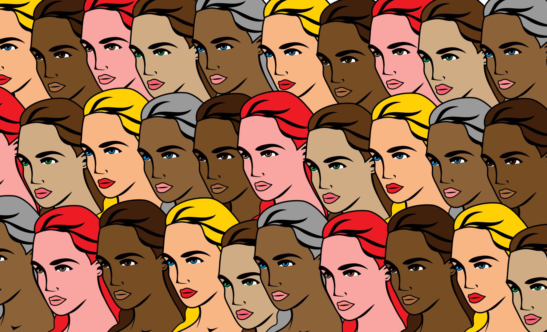 single-girl-vectors-color-long