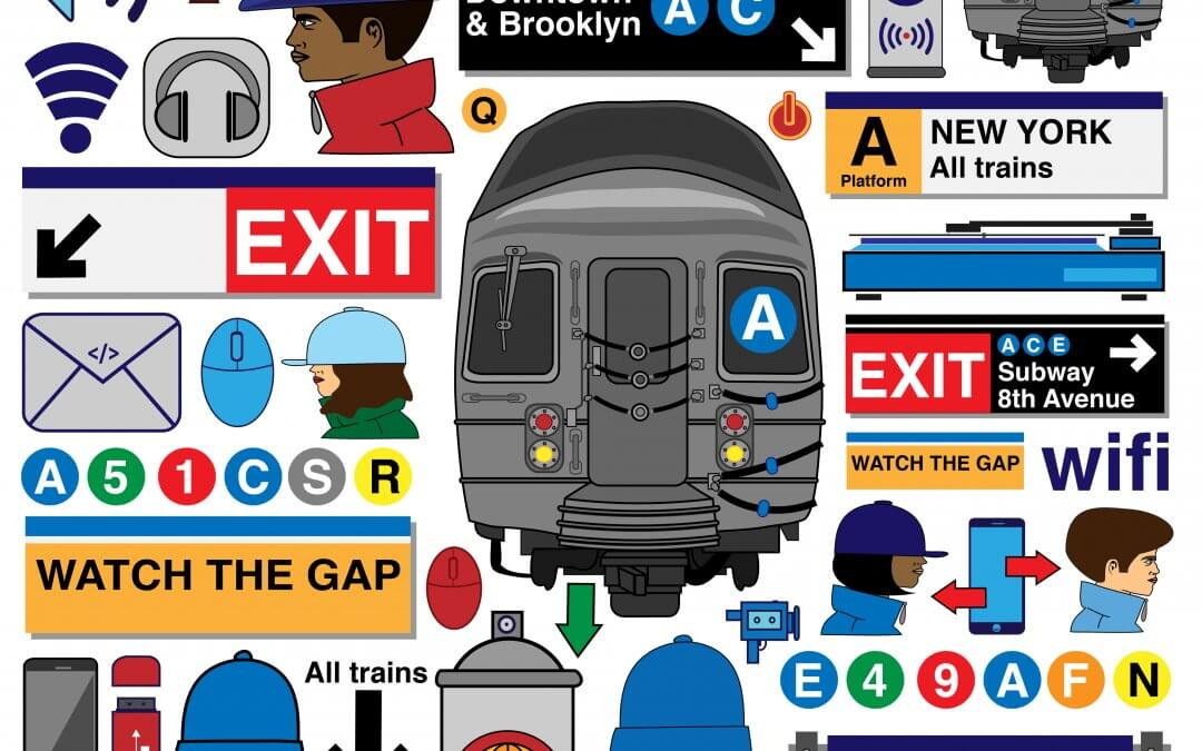 MTA Life NYC – A Vector Art Poster of New Icons & Graphics
