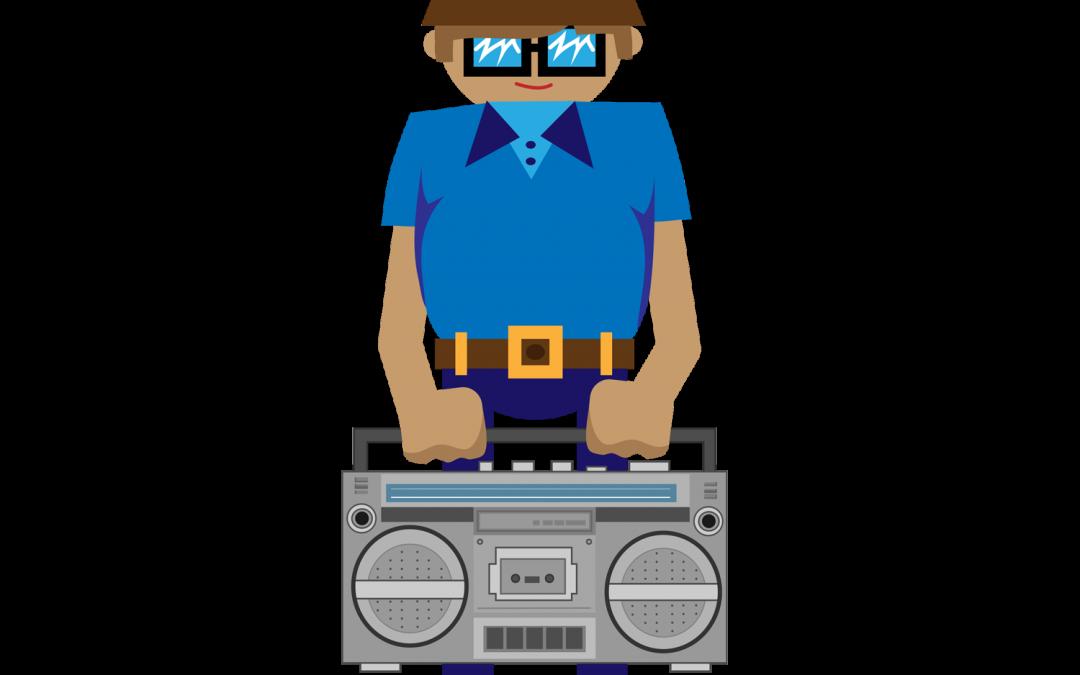 B-Boy Boombox Vector Illustration & GIF