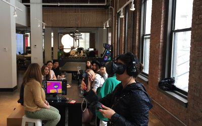Class Visits to GIPHY & Planeta HQ in NYC for some Animated VR!