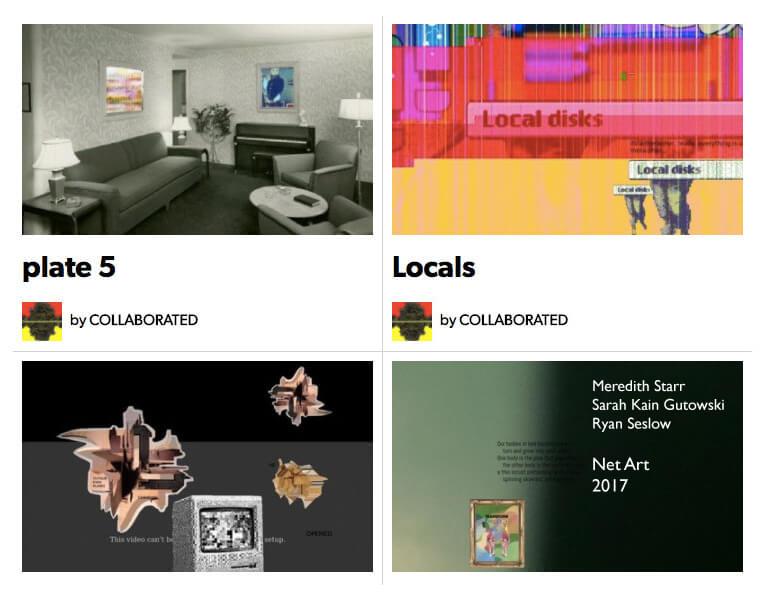 """Collaborated"" A Net-Art Collaboration with Meredith Starr & Sarah Kain Gutowski"