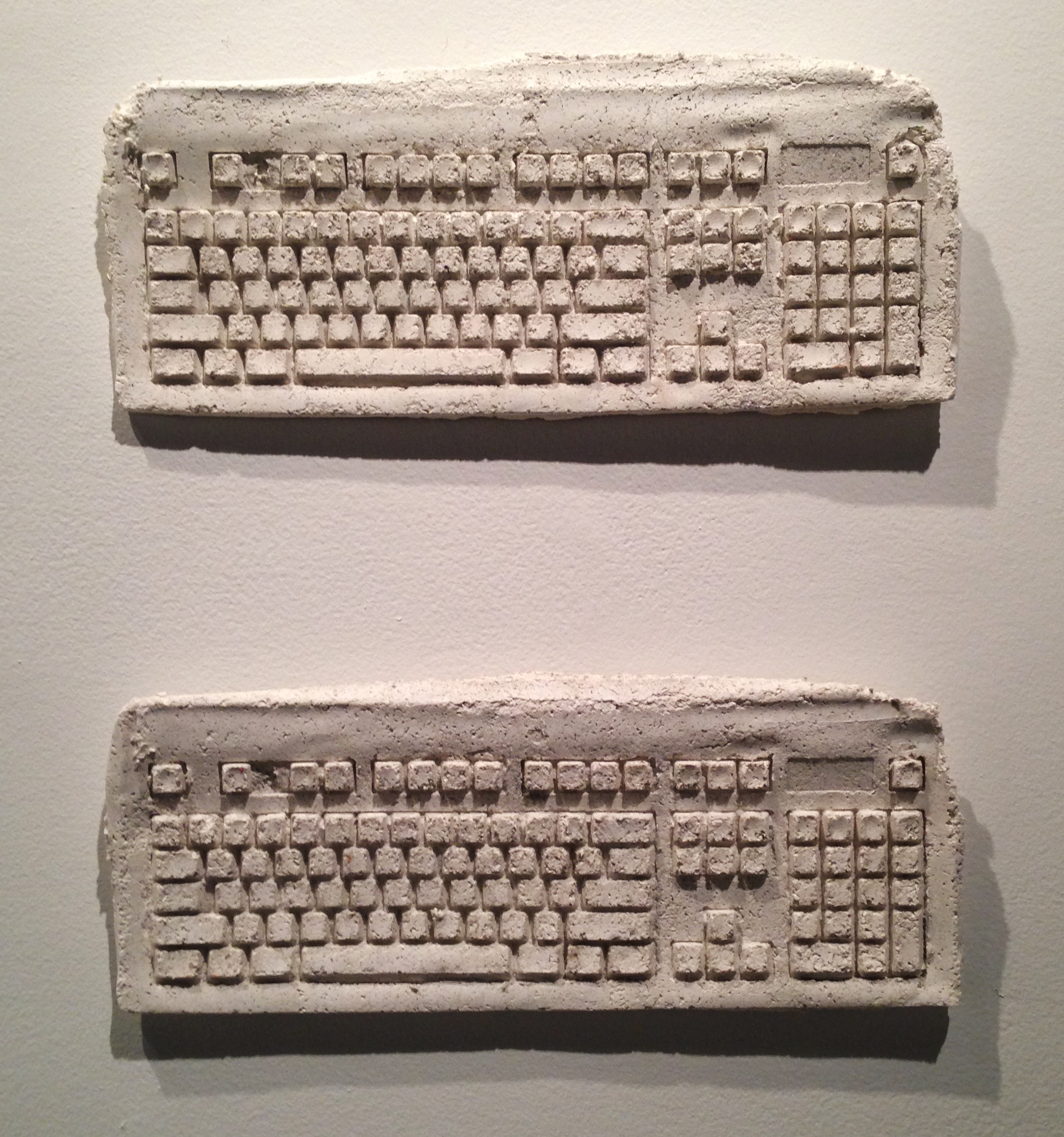 Paper Pulp Keyboards at The Steinberg Museum of Art