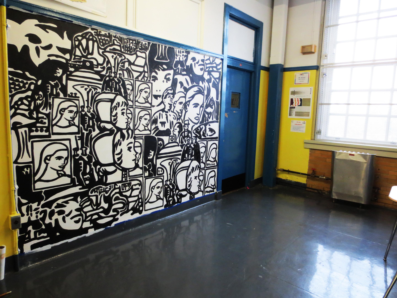 New Mural Completed Hala Jamaica High School Ryan Seslow Art Design