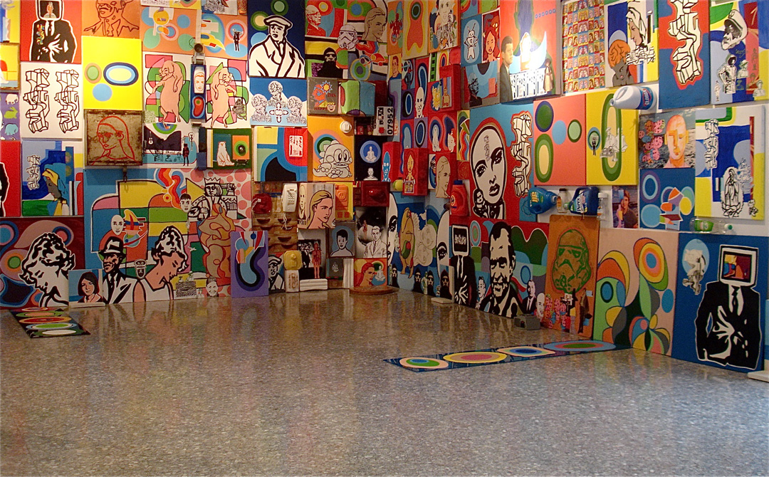 "43. ""Awareness of the Creative Human Potential"" 2012. Multidisciplinary wall relief installation."
