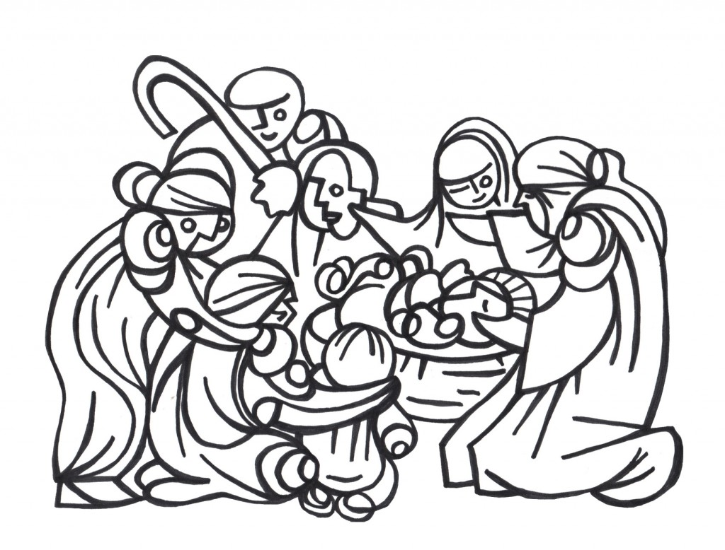 hand Drawn Nativity