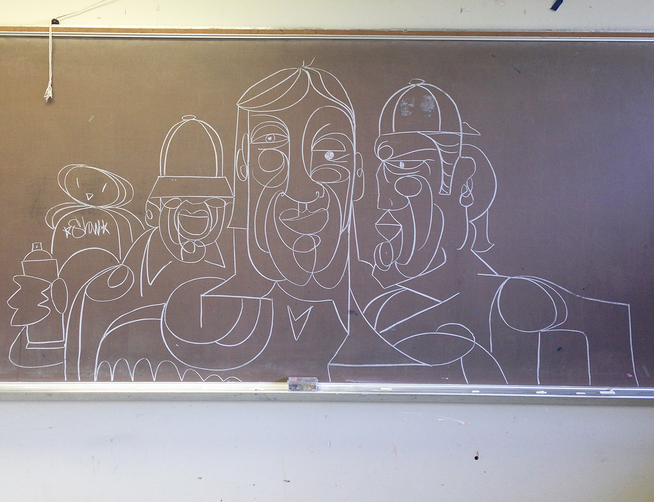 Chalkboard Confrontations #Drawing Immediacy