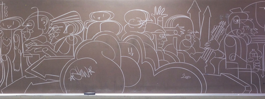 More Chalkboard Immediacy #Drawing #Graffiti