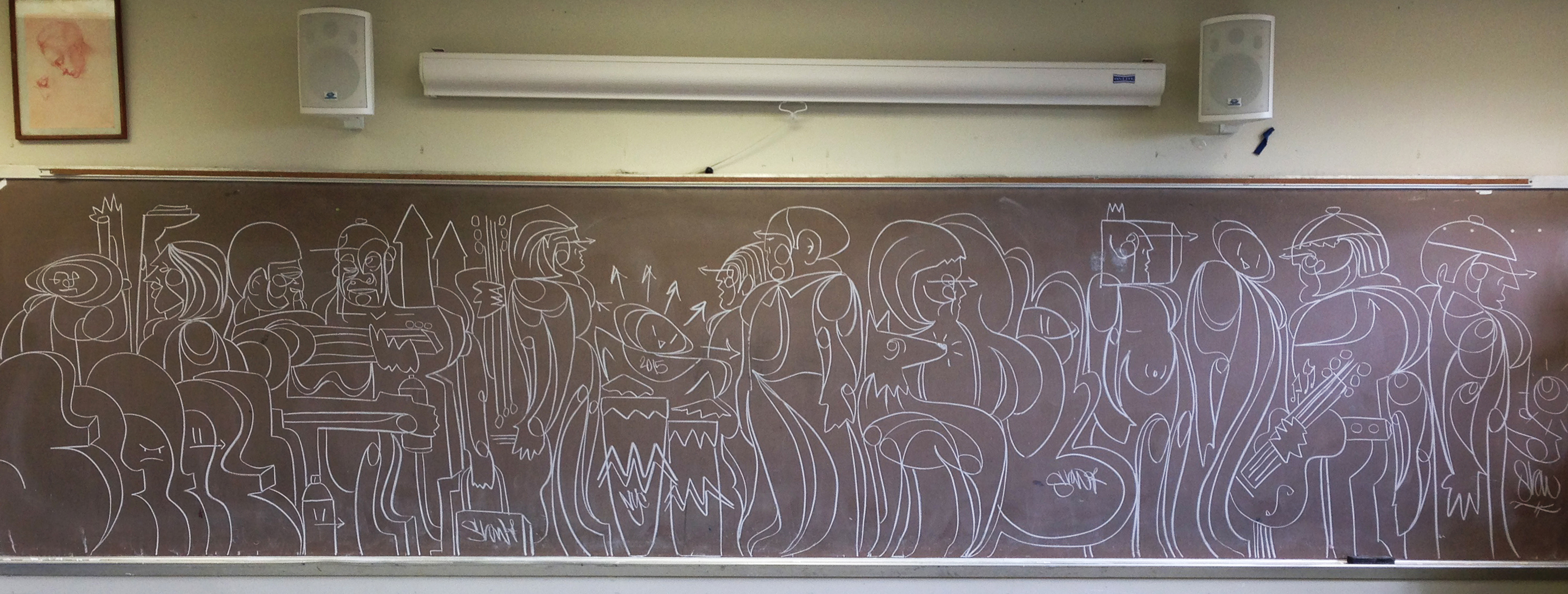 ChalkBoard Bombing – The 2015 Update #graffiti #drawing