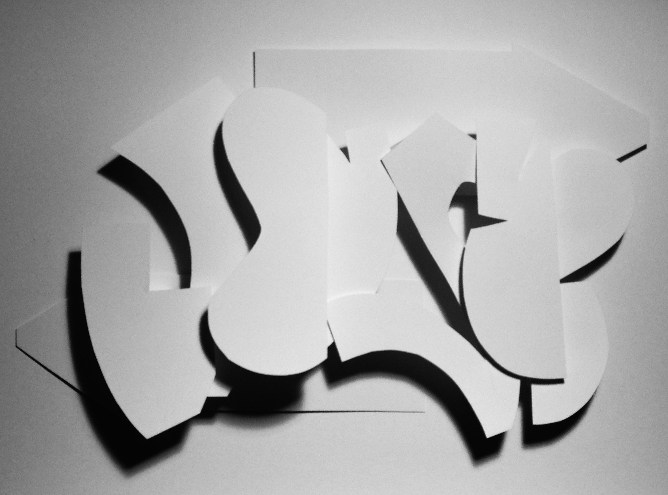 SLOW VIII – Paper Sculpture #graffiti