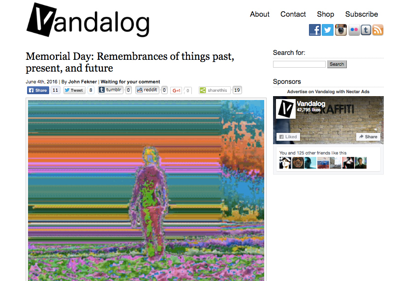 New GIFs on Vandalog.com w/ @johnfekner