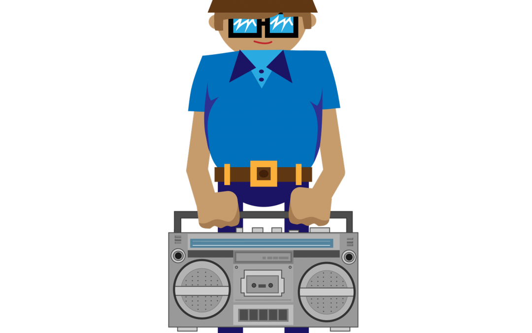 B-Boy Boombox Vector Illustration & GIF