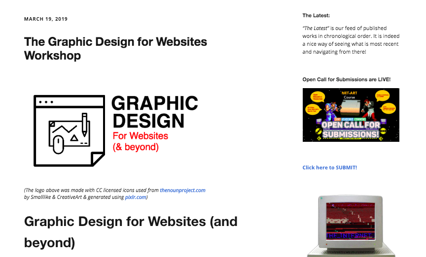 The Graphic Design For Websites Workshop