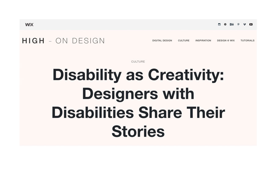 Talking Disability & Design with WIX
